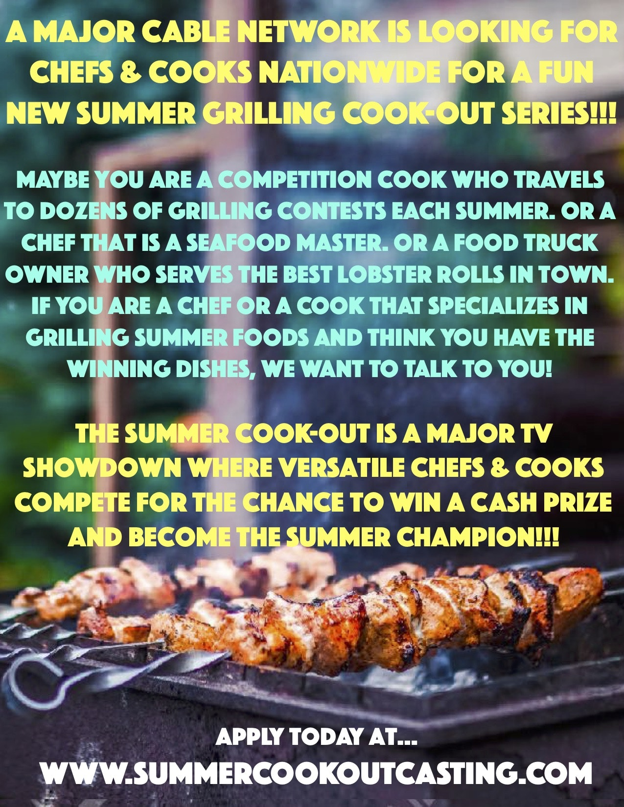 Summer Cook-Out Casting